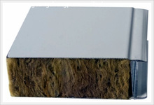 Stone wool insulation steel sandwich wall panel