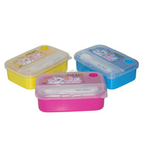 Kids foodgrade plastic microwave food container