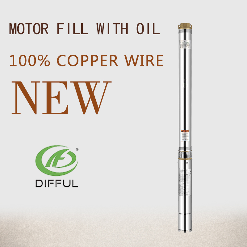 0.75hp low volume deep well water pump wtih capacitor for water pump