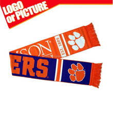 Clemson Tigers Lightweight Infinity Scarf Emblazoned with Geometric Designs, Clemson Logos and Colors