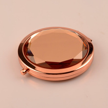 Double Sided Rose Gold Jeweled Compact Mirrors