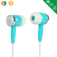 Logo print silcone mobile phone earphone for samsung