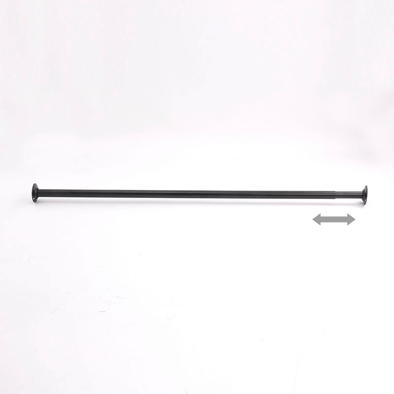 Stable Metal Pipe Wall Mounted Tension Shower Curtain Rod