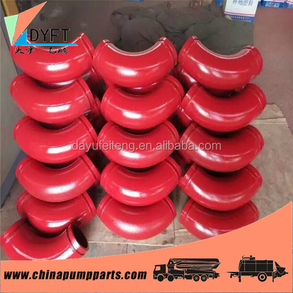 concrete pump truck construction spare parts twin walls DN125 long working life elbow pipe bend pipe joint