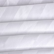 Chinese Manufacture Polyester Cotton Satin White Stripe Fabric