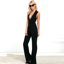 Hot Sale High Waist Backless Cross Sexy Evening Women Jumpsuits