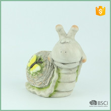 Hand Painted Outdoor Ceranuc Snail Decoration