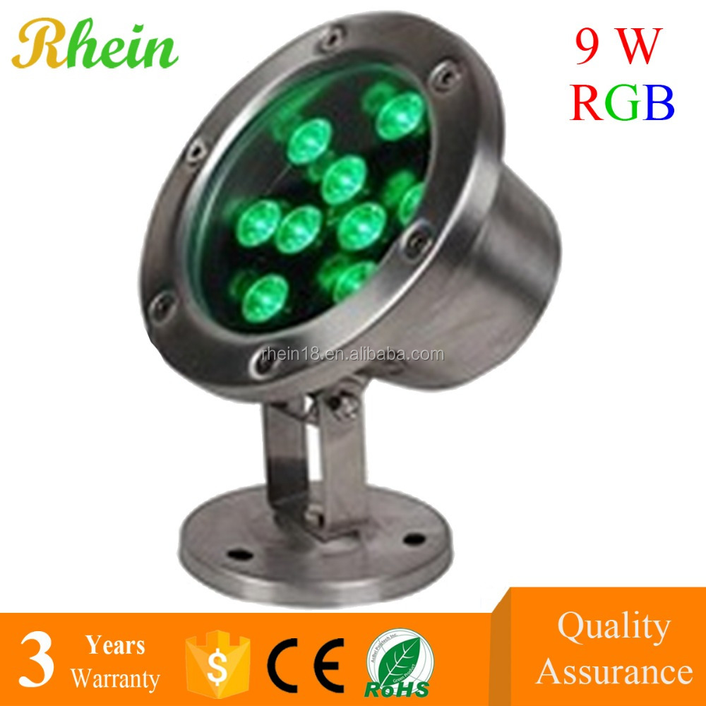 Factory Price list LED Underwater GREE Chip 9w RGB IP68 LED Pool Light Solar