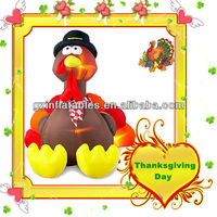 LED inflatable turkey cartoon for Thanksgiving Day