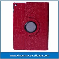 Red 360 Degree Rotating Cover Shell for iPad Air 2 Waterproof Tablet Case