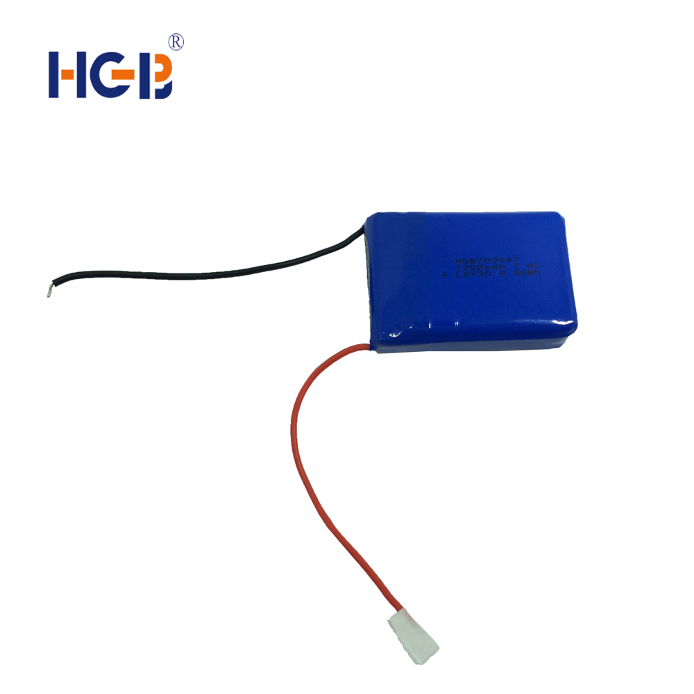 7.4V Prismatic Batteries pack Lipo Cells 703447 1200mah battery power supplier