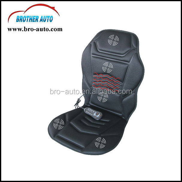 2015 new hot sell DC12V or DC24V car heated massage cushion