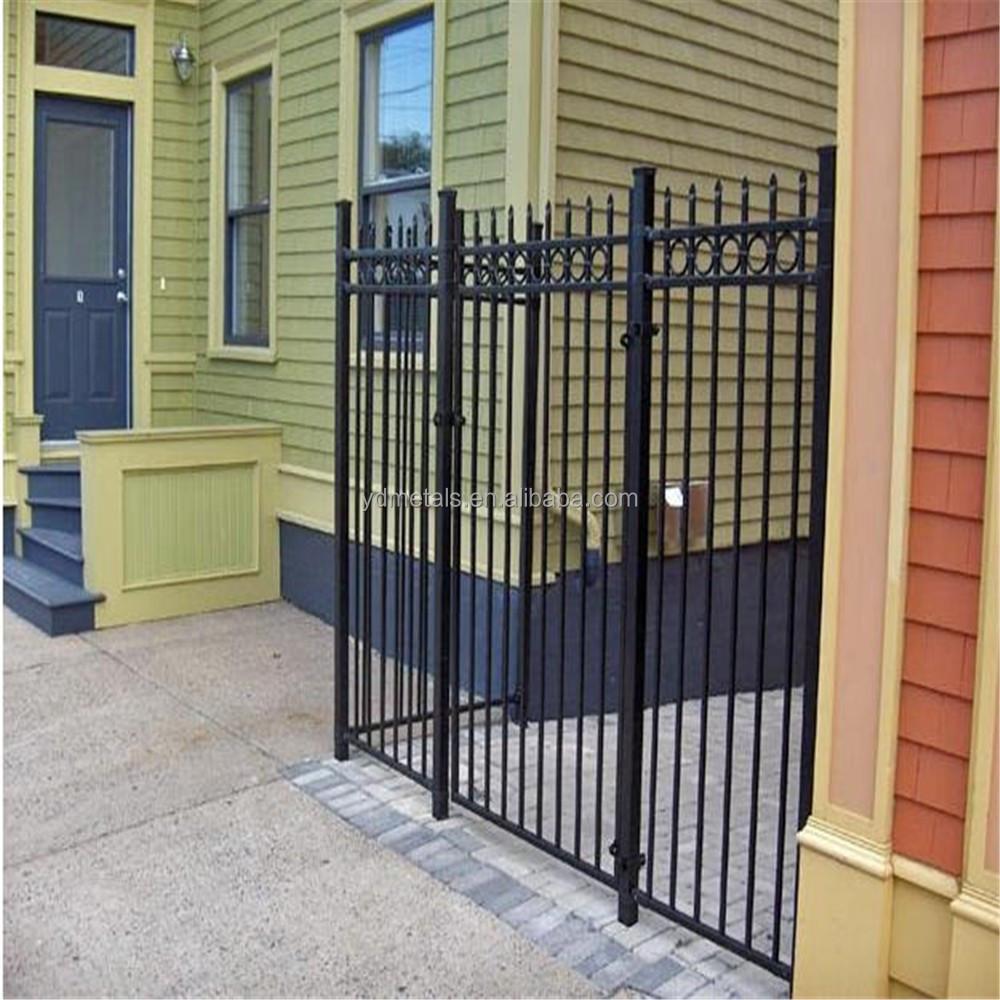 Pvc coated ornamental wrought iron fence buy