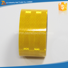 Single Side Self- Adhesive Pressure Sensitive Type PET Yellow Reflective Tape,3M Reflective Yellow Tapes For Car,Truck,Trailer