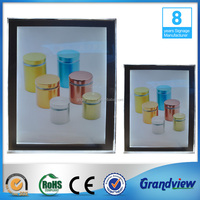 Aluminum frame crystal slim light box for picture display