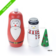New design craft nesting wood Matryoshka doll for Christmas gift