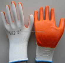 Cheap Price Factory Wholesaler 13 G nylon polyester nitrile gloves