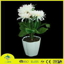 Indoor white led light up artificial flowers