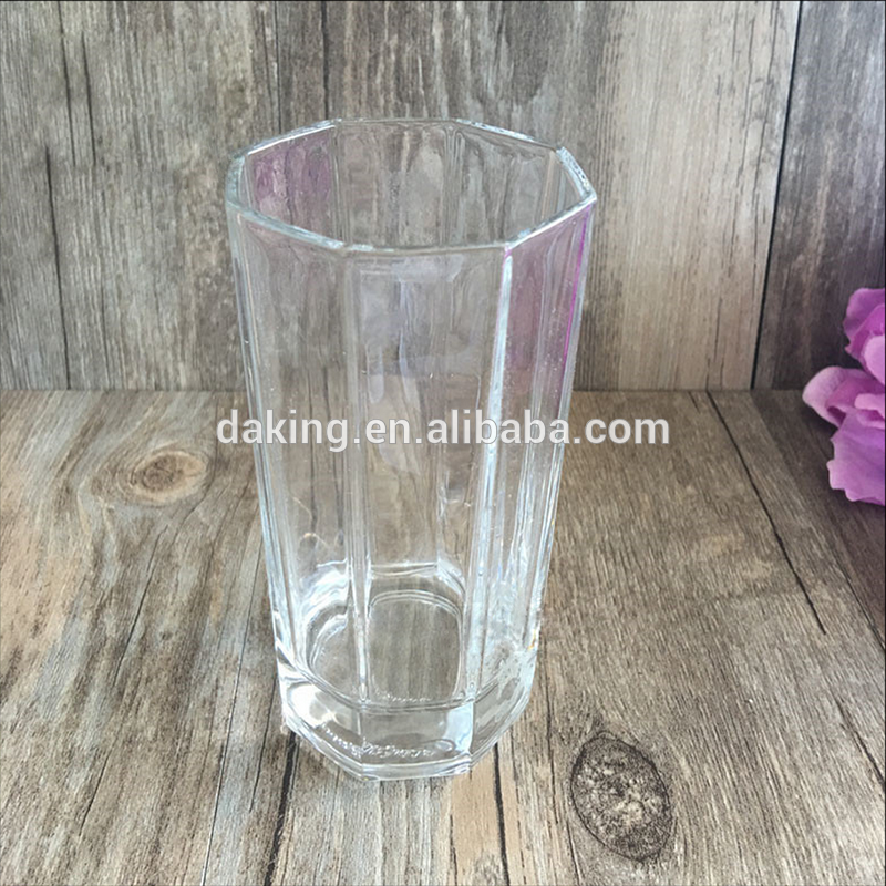 China factory vintage embossed drinking glass