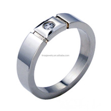 Popular fashion jewelry, latest finger ring designs, Engagement Stainless Steel Wedding Ring With Stone JDR164