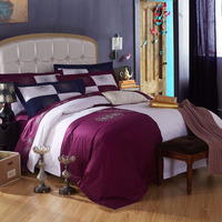 Embroidery and patchwork special design bed cover comforter set