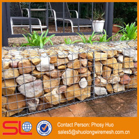 Hot Dipped Galvanized Wire 4mm Mesh 100x50mm Stone Gabion Basket For UK