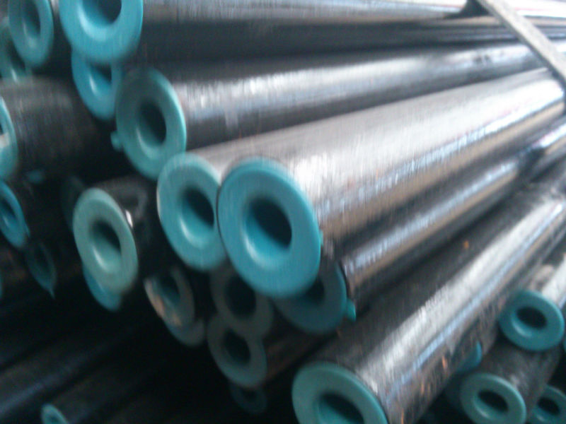 Black Powder Coated Galvanized Steel Pipe BS1387 (China)