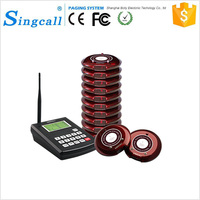 SINGCALL High Quality Guest Cafe Coaster Pagers for Restaurant