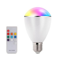 AC100-240V LED RGB Bulb E27 6W Smart Lamp Magical 7 Colors Light with 11Key Remote Control Home Illumination