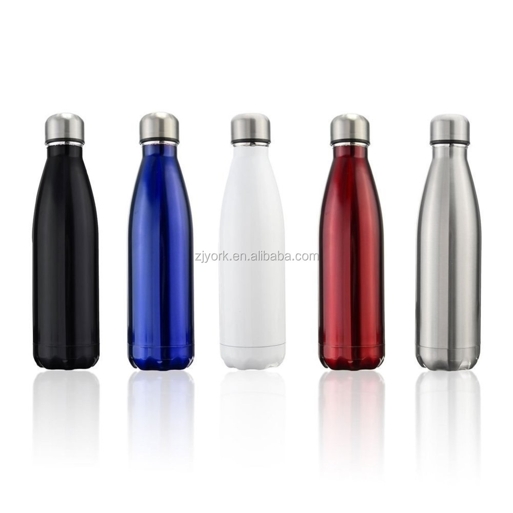17 Ounce Insulated Stainless Steel Double Wall Cola Shaped Water Bottle 500ml