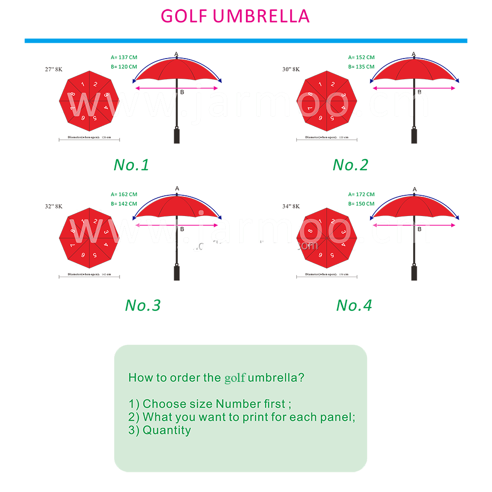 Logo Print Golf Umbrella