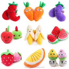 Stuffed and plush fruit and vegetable soft toys