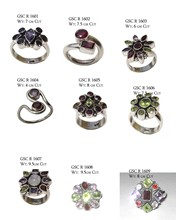 wholesale ring jewelry in multy gemstone at factory cost