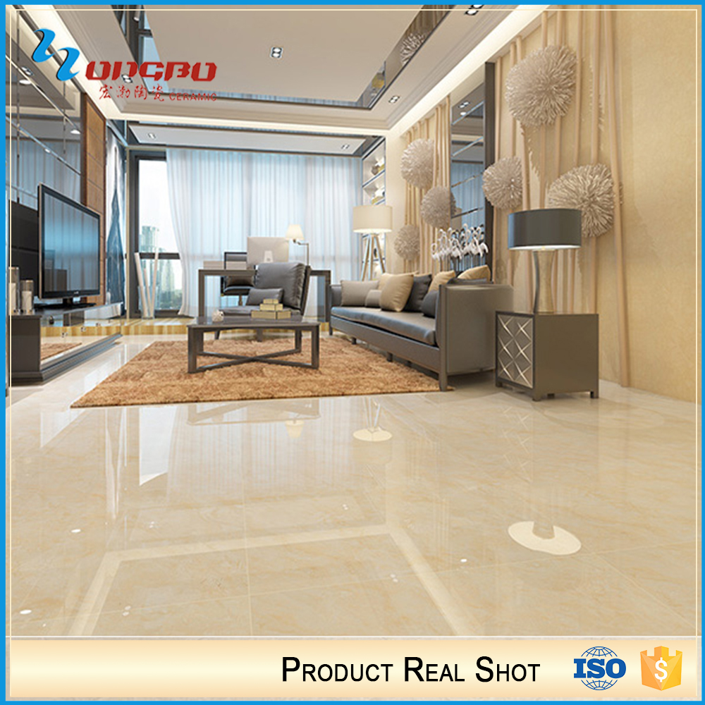 Hot Products Yellow Polished Porcelain Tile Kitchen Floor Design Ceramic