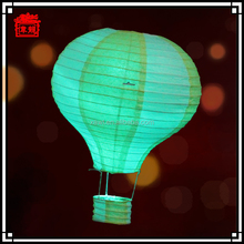 2015 Fashionable patterns custom printed hot air balloon paper lantern JLS04-6