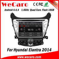Wecaro WC-HE8054 Android 4.4.4 car multimedia system double din car dvd player for hyundai elantra 2014 stereo 16GB Flash 2014