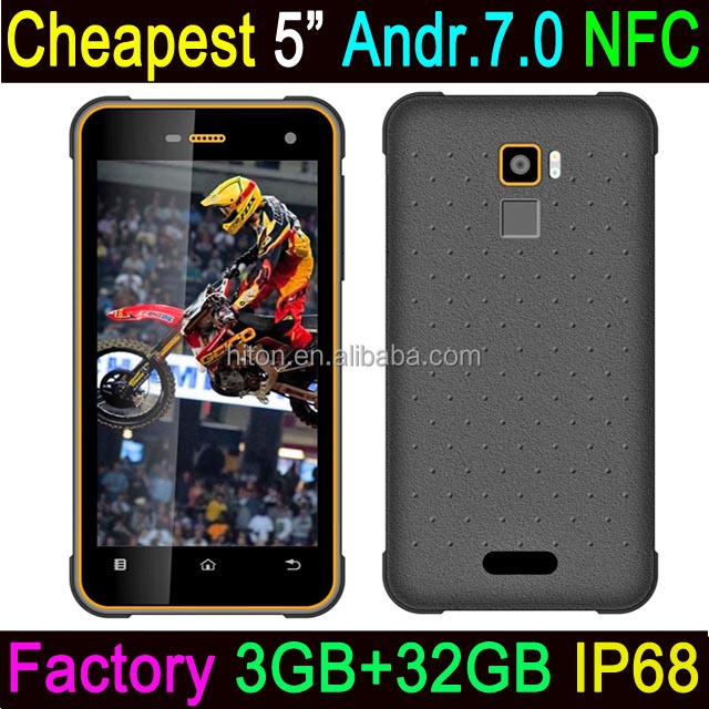 Cheapest Factory Ultrathin 5 inch 3GB Ram 32GB Rom IP68 Android7.0 Rugged Phone With Android7.0 OS