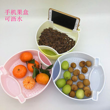 Lazy people Double Deck Snacks Nuts Platter Bowl For Dried Food Storage Box