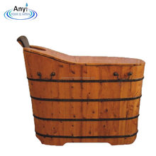 Canada cedar wooden barrel bathtub bath tub with cover