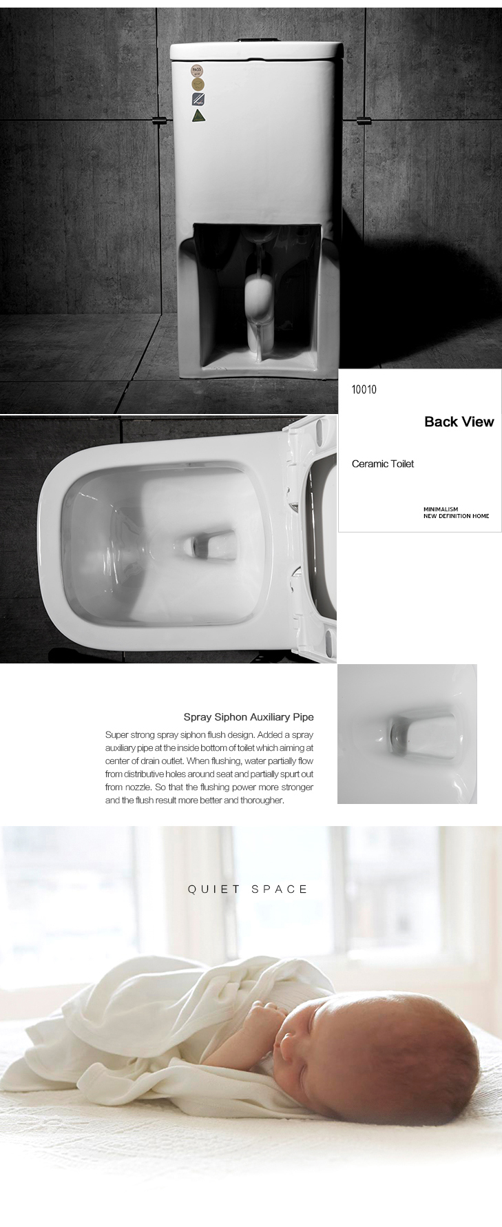 Outdoor White Colored Toilet For The Elderly