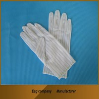 esd/anti static gloves for esd solution 100% manufacturer lowest price