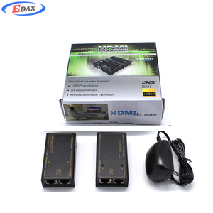 Wholesale 1080P HDMI 30M video rx tx transmitter and receiver repeater RJ45 over ethernet ir hdmi extender