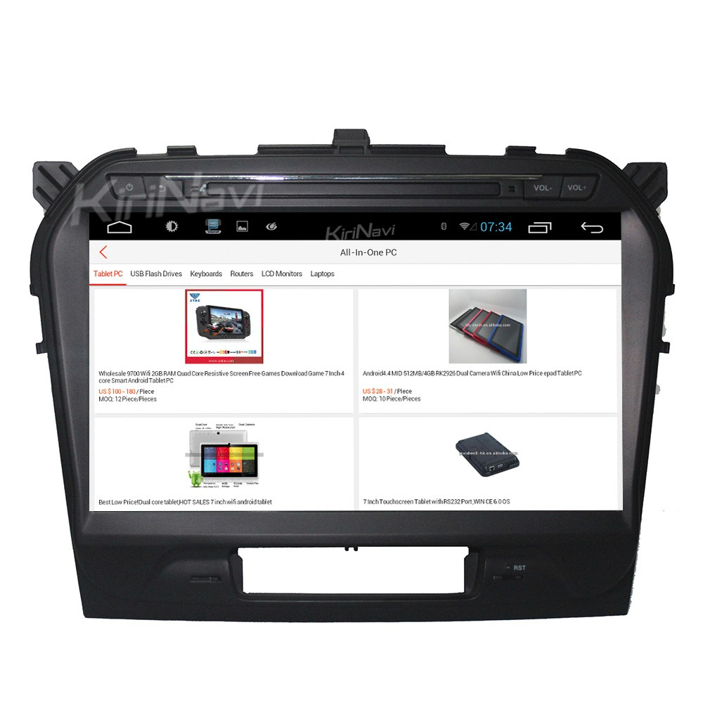 "Kirinavi 10.2"" andriod 6.0 car gps navigation for suzuki grand vitara multimedia 2015 + touch screen"