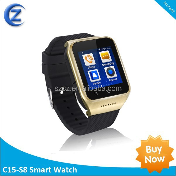 smartwatch phone New 2014 fashion android MTK6577 smart watch android blueetooth smart watch with camera