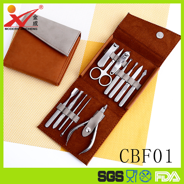 Factory price hot sale promotional gift manicure set nail clipper beauty set with beautiful case