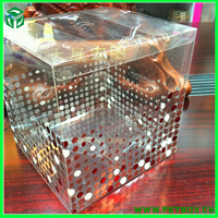 Plastic gift craft clear PVC cube individual gift boxes