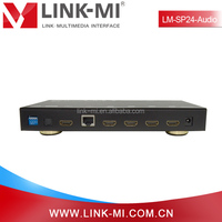 LINK-MI LM-SP24-Audio 2x4 HDMI Switch Splitter Support 3D, EDID With Audio Extraction Via Optical Cable