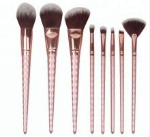 Pro art cosmetics makeup brushes latest fads 8pcs cosmetic rose golden brush