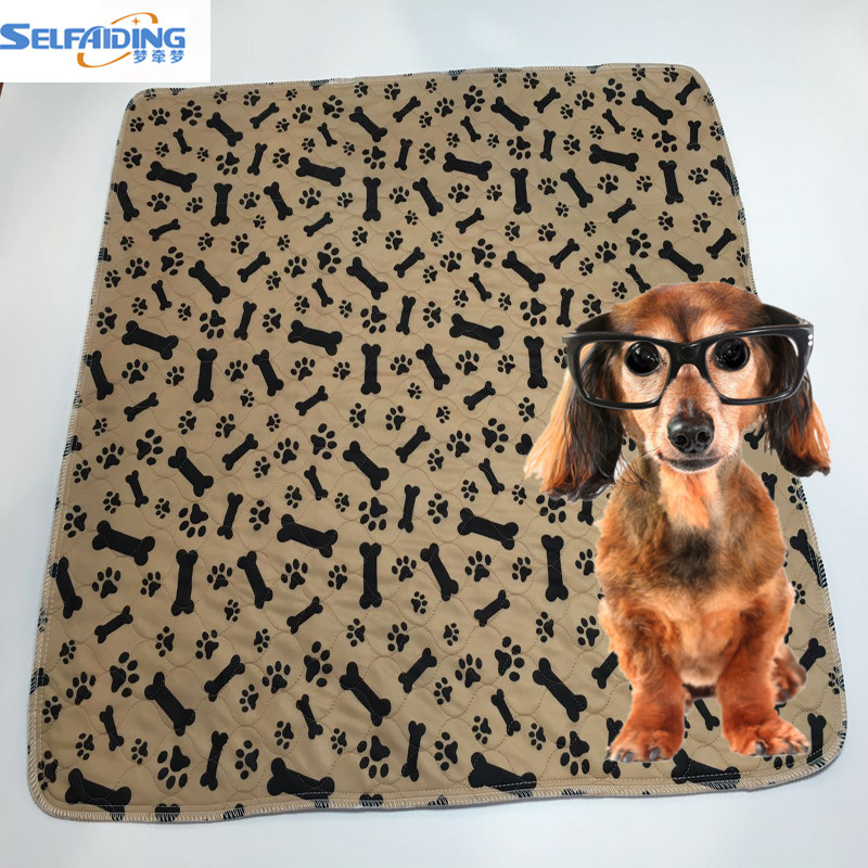 China Wholesale Waterproof Puppy Pads Washable Pet Mats Reusable Dog Training Pee Pads
