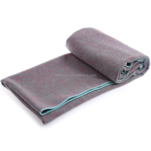 Fashion Lady Sport Fitness Exercise Yoga Pilates Mat Cover Hot Yoga Towel Non Slip Microfiber Silicon Dots